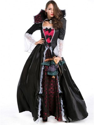 Vampire Halloween Clothing Queen Long Skirts