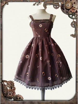 Mechanical Doll Mini Braces Skirt Coffee Color