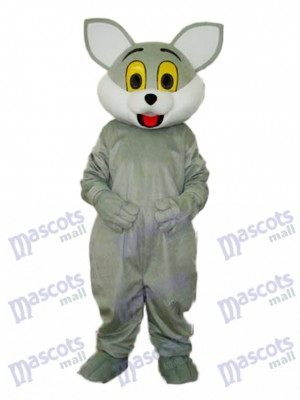Costume de mascotte de chat gris Animal