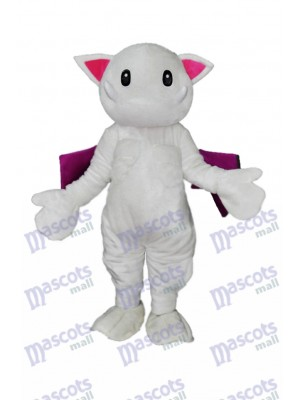 Dents effrayantes Mascotte de chat blanc Monster Costume Animal