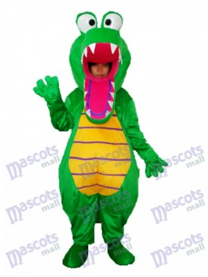 Bouche ouverte Crocodile mascotte Costume adulte Animal