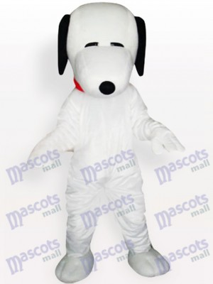 Snoopy Dog avec Costume de mascotte adulte collier rouge