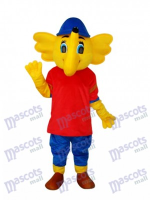 Mascotte jaune Big Elephant Mascotte Costume Animal