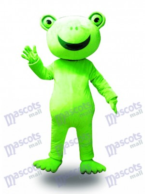 Grand sourire grenouille mascotte Costume Animal