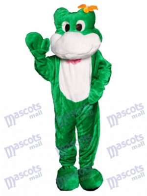 Costume de mascotte grenouille amicale Animal