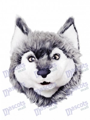 Gray Wolf Mascot Head Only