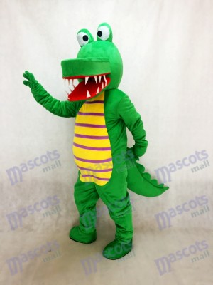 Costume de mascotte de crocodile vert Cartoon Animal