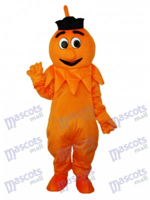 Orange Monstre Mascotte Adulte Costume Anime de dessin animé