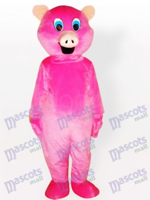 Costume de mascotte d'animal adulte de cochon rose