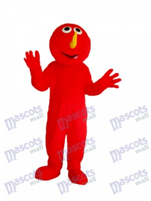 rouge Elmo Monstre Mascotte Adulte Costume Dessin animé Anime