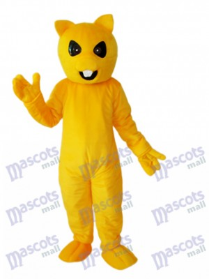 Mascotte écureuil jaune Costume adulte Animal