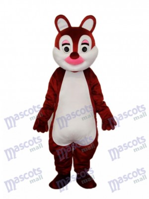 Costume adulte mascotte écharpes nez rose Animal
