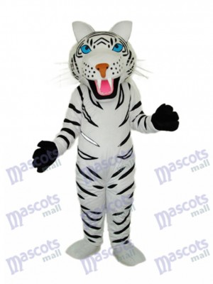 blanc tigre Mascotte Adulte Costume Animal