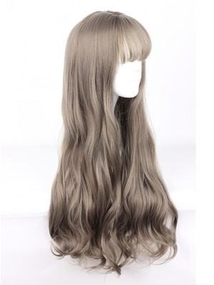 Harajuku Style Big Waves Long Hair Lolita Aoki Flax Grey Wig