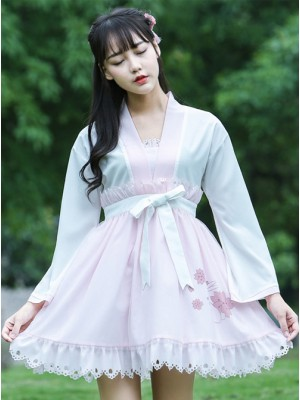 Pink Bows Ruffles Cute Sweet Lolita Dress