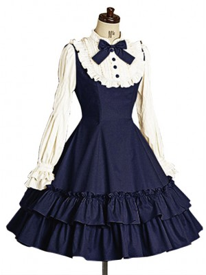 Long Sleeves Ruffle Elegant School Lolita Dress