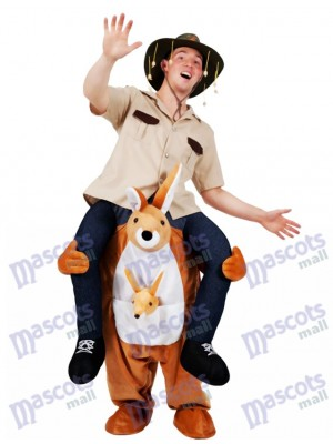 Carry Me Illusion Costume Kangourou Ride sur Piggy Back Costume de mascotte
