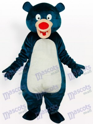 Costume de mascotte d'animal adulte bleu ours