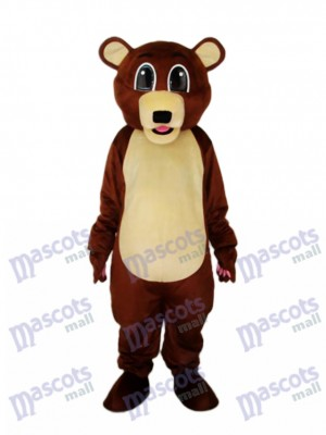 Big Eyes Ours brun mascotte Costume adulte Animal