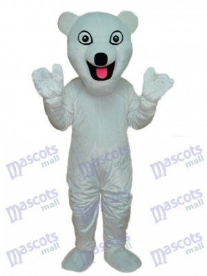 Costume adulte mascotte ours polaire blanc