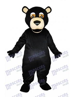 Bouche ronde Ours noir Mascotte adulte Costumes Animal