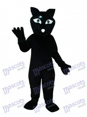 Costume de mascotte castor noir animal