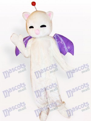 Costume de mascotte adulte chat blanc chat rose