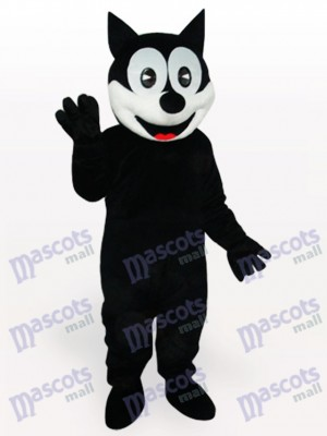 Costume de mascotte adulte chat heureux animaux