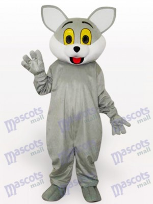 Costume de mascotte adulte chat gris animal