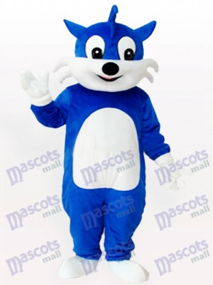 Costume de mascotte adulte chat bleu