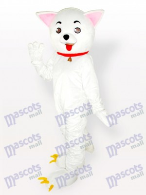 Costume de mascotte adulte rose des chats Kitty Cat blanc
