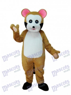 Petit Costume Adulte Mascotte Bobcat Brun Animal