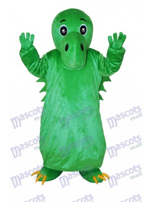 Dinosaur chinois vert Costume de mascotte adulte Animal