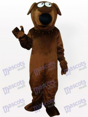 Costume de mascotte adulte Big Dog de chien gris