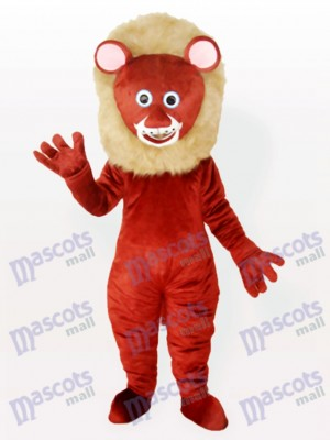 Costume de mascotte animal adulte lion mâle brun