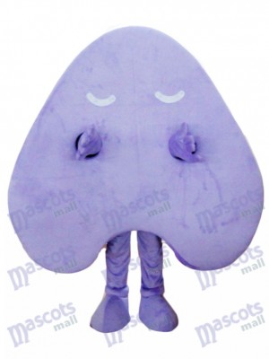Happy Purple Letter Un costume de mascotte alphabet