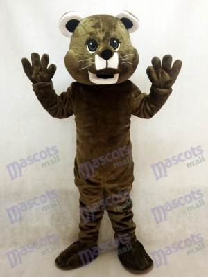 Costume de mascotte bébé cougar marron Animal