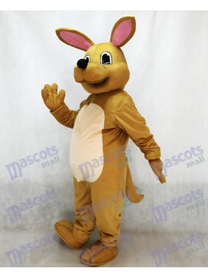 Costume de mascotte kangourou Tan mignon Animal