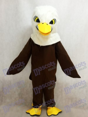 Nouveau Costume de mascotte aigle plume marron Animal