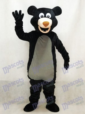 Costume adulte mascotte de l'ours noir aux cheveux longs Animal