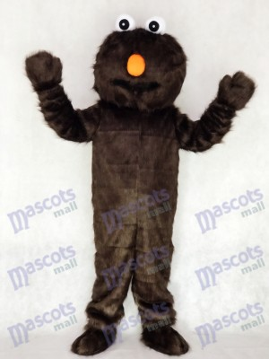 Longue fourrure sésame rue brun chocolat Elmo mascotte Costume Cartoon Halloween Noël