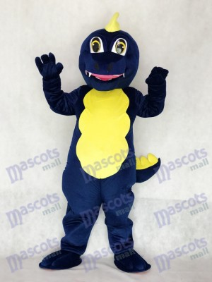 Costume de mascotte Dragon bleu marine adulte Animal