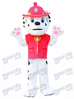 Marshall patte patrouille Dalmatien chien Mascotte Costume Cartoon Anime