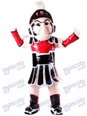 Costume de mascotte Sparty chevalier chevalier spartiate rouge