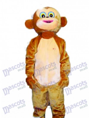 Costume adulte de mascotte de singe heureux Animal