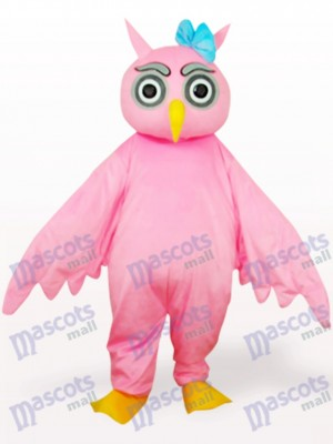 Costume de mascotte adulte rose hibou animal