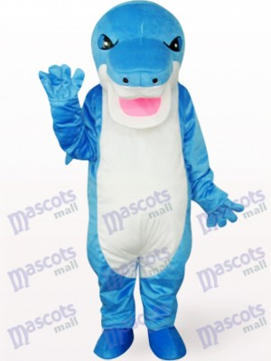 Costume de mascotte animal bleu requin