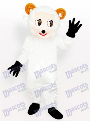 Costume de mascotte adulte petit mouton blanc animal