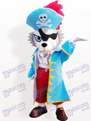 Loup Pirate Animal Mascotte Adulte Costume Drôle