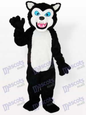 Costume de mascotte adulte Black Wolf
